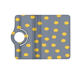 Limpet Polka Dot Yellow Grey Kindle Fire Hd (2013) Flip 360 Case by Mariart