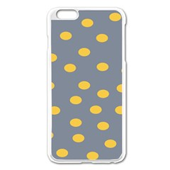 Limpet Polka Dot Yellow Grey Apple Iphone 6 Plus/6s Plus Enamel White Case