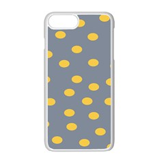 Limpet Polka Dot Yellow Grey Apple Iphone 7 Plus White Seamless Case by Mariart