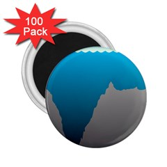 Mariana Trench Sea Beach Water Blue 2 25  Magnets (100 Pack)  by Mariart