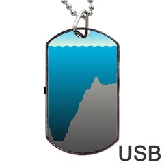 Mariana Trench Sea Beach Water Blue Dog Tag Usb Flash (two Sides) by Mariart