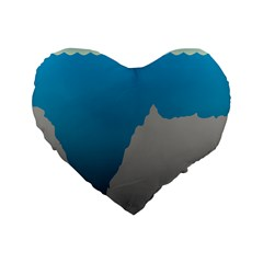 Mariana Trench Sea Beach Water Blue Standard 16  Premium Heart Shape Cushions by Mariart