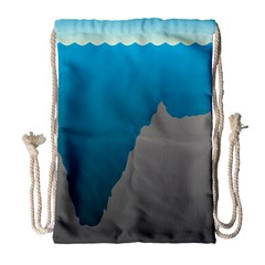 Mariana Trench Sea Beach Water Blue Drawstring Bag (large) by Mariart