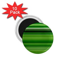 Horizontal Stripes Line Green 1 75  Magnets (10 Pack)  by Mariart