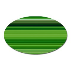 Horizontal Stripes Line Green Oval Magnet by Mariart