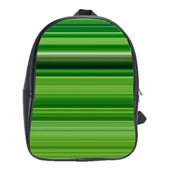 Horizontal Stripes Line Green School Bags(large)  by Mariart