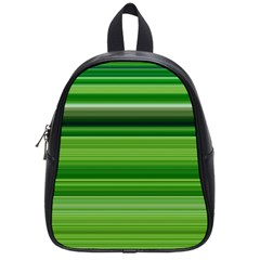 Horizontal Stripes Line Green School Bags (small)  by Mariart