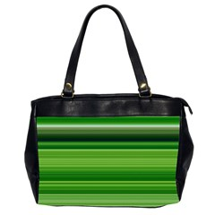 Horizontal Stripes Line Green Office Handbags (2 Sides)  by Mariart