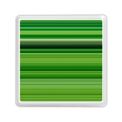 Horizontal Stripes Line Green Memory Card Reader (square)  by Mariart
