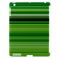 Horizontal Stripes Line Green Apple Ipad 3/4 Hardshell Case (compatible With Smart Cover) by Mariart