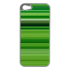 Horizontal Stripes Line Green Apple Iphone 5 Case (silver) by Mariart