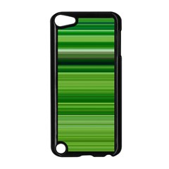 Horizontal Stripes Line Green Apple Ipod Touch 5 Case (black) by Mariart