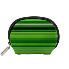 Horizontal Stripes Line Green Accessory Pouches (small)  by Mariart