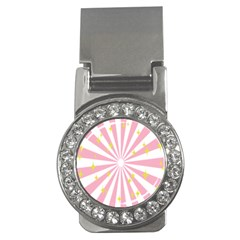 Hurak Pink Star Yellow Hole Sunlight Light Money Clips (cz)  by Mariart