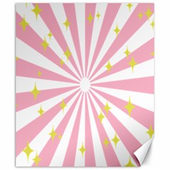 Hurak Pink Star Yellow Hole Sunlight Light Canvas 20  X 24   by Mariart