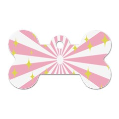 Hurak Pink Star Yellow Hole Sunlight Light Dog Tag Bone (two Sides) by Mariart