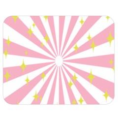 Hurak Pink Star Yellow Hole Sunlight Light Double Sided Flano Blanket (medium)  by Mariart