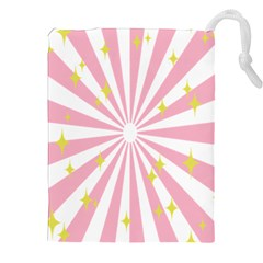 Hurak Pink Star Yellow Hole Sunlight Light Drawstring Pouches (xxl) by Mariart