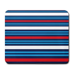 Martini Style Racing Tape Blue Red White Large Mousepads by Mariart
