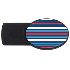 Martini Style Racing Tape Blue Red White Usb Flash Drive Oval (2 Gb) by Mariart