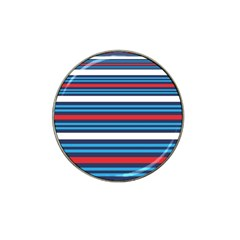 Martini Style Racing Tape Blue Red White Hat Clip Ball Marker by Mariart