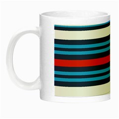 Martini Style Racing Tape Blue Red White Night Luminous Mugs by Mariart