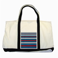 Martini Style Racing Tape Blue Red White Two Tone Tote Bag by Mariart