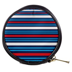Martini Style Racing Tape Blue Red White Mini Makeup Bags by Mariart