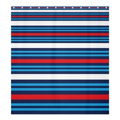 Martini Style Racing Tape Blue Red White Shower Curtain 66  X 72  (large)  by Mariart