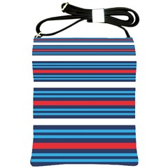 Martini Style Racing Tape Blue Red White Shoulder Sling Bags by Mariart