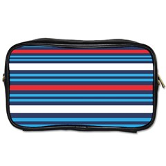 Martini Style Racing Tape Blue Red White Toiletries Bags 2 Side by Mariart