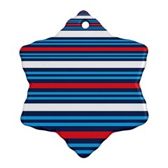 Martini Style Racing Tape Blue Red White Ornament (snowflake) by Mariart