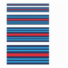 Martini Style Racing Tape Blue Red White Small Garden Flag (two Sides) by Mariart