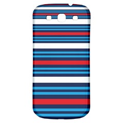 Martini Style Racing Tape Blue Red White Samsung Galaxy S3 S Iii Classic Hardshell Back Case by Mariart