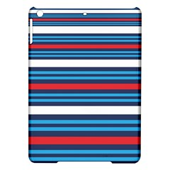 Martini Style Racing Tape Blue Red White Ipad Air Hardshell Cases by Mariart