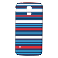 Martini Style Racing Tape Blue Red White Samsung Galaxy S5 Back Case (white) by Mariart