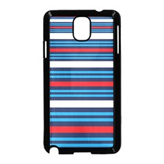 Martini Style Racing Tape Blue Red White Samsung Galaxy Note 3 Neo Hardshell Case (black)