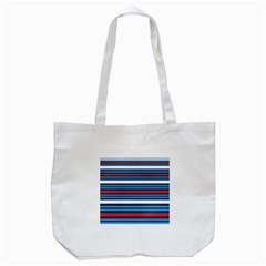 Martini Style Racing Tape Blue Red White Tote Bag (white)