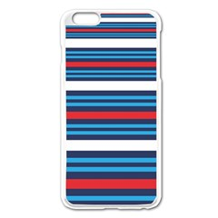 Martini Style Racing Tape Blue Red White Apple Iphone 6 Plus/6s Plus Enamel White Case