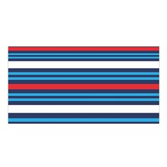 Martini Style Racing Tape Blue Red White Satin Shawl by Mariart