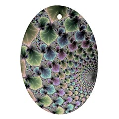 Beautiful Image Fractal Vortex Ornament (oval)