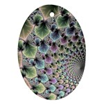 Beautiful Image Fractal Vortex Ornament (Oval) Front