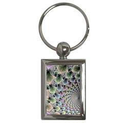 Beautiful Image Fractal Vortex Key Chains (rectangle)  by Simbadda