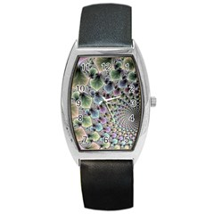 Beautiful Image Fractal Vortex Barrel Style Metal Watch by Simbadda