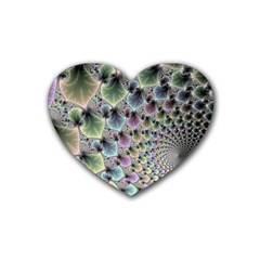 Beautiful Image Fractal Vortex Rubber Coaster (heart)  by Simbadda
