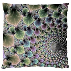Beautiful Image Fractal Vortex Large Cushion Case (two Sides) by Simbadda