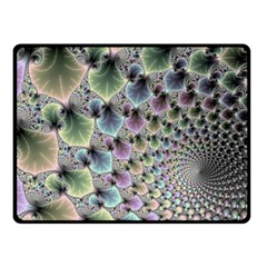 Beautiful Image Fractal Vortex Double Sided Fleece Blanket (small)  by Simbadda