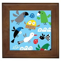 New Zealand Birds Close Fly Animals Framed Tiles by Mariart