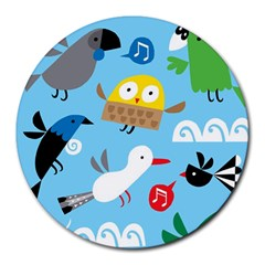 New Zealand Birds Close Fly Animals Round Mousepads by Mariart