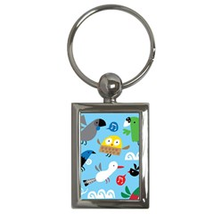 New Zealand Birds Close Fly Animals Key Chains (rectangle)  by Mariart